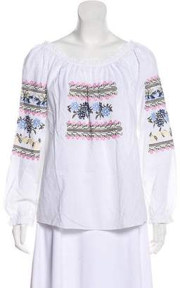 Needle & Thread Off-The-Shoulder Embroidered Top