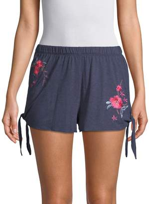 Natori Embroidered Floral Sleep Shorts