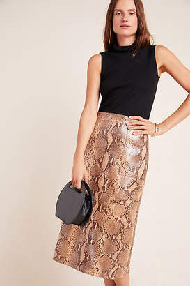 Current Air Orly Snake-Printed Pencil Skirt