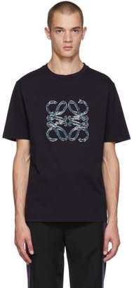 Loewe Navy Anagram Cut T-Shirt