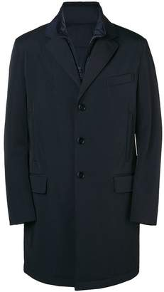 Fay layered zip coat