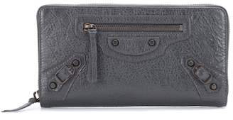 Balenciaga Classic Continental Zip Around leather wallet