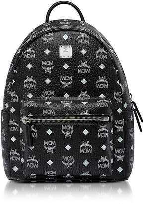 MCM (エムシーエム) - Mcm Small Black And White Logo Visetos Stark Backpack