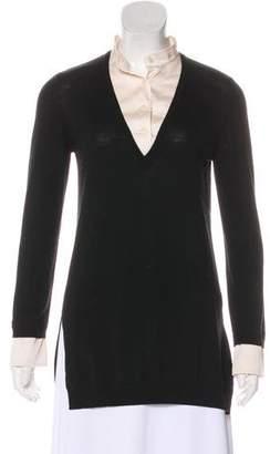 St. John Wool V-Neck Sweater