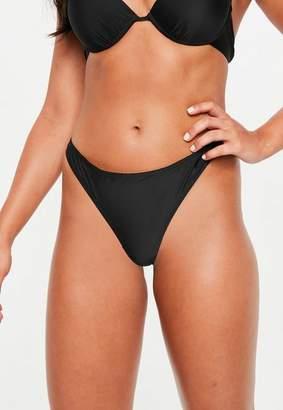 Missguided Black Ruched Bikini Thong Brief - Mix & Match