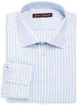 Hickey Freeman Striped Cotton Casual Button-Down Shirt