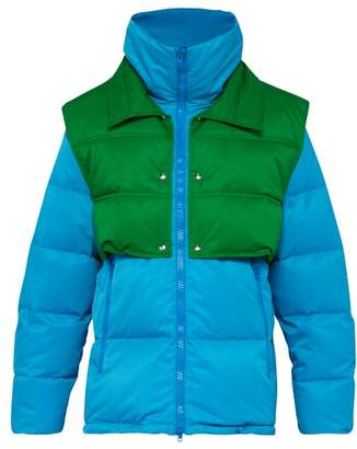 Calvin Klein Detachable Gilet Down Filled Coat - Mens - Blue Multi