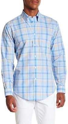 Brooks Brothers Bold Plaid Long Sleeve Sport Fit Shirt