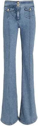 Balmain Seam Detail Flare Jeans