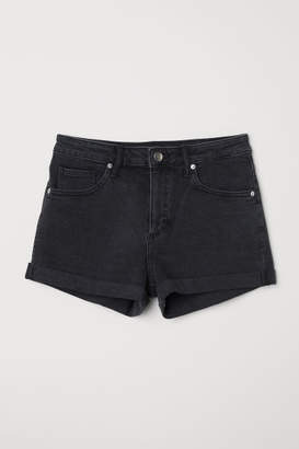 H&M Denim Shorts Girlfriend - Gray