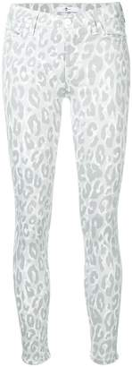 7 For All Mankind leopard print skinny jeans