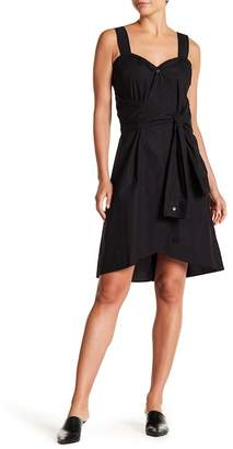 Derek Lam 10 Crosby Denim Sleeveless Tie Front Dress