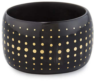Ashley Pittman Mfalme Dotted Dark Horn Bangle Bracelet
