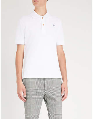 Vivienne Westwood Logo-embroidered organic cotton-piqué polo shirt