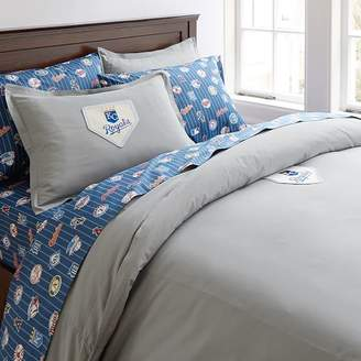 Pottery Barn Teen MLB Patch Duvet Cover, Full/Queen, Gray Orioles Baltimore
