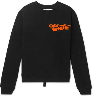 Off-White Off White Logo-Print Loopback Cotton-Jersey Sweatshirt - Men - Black