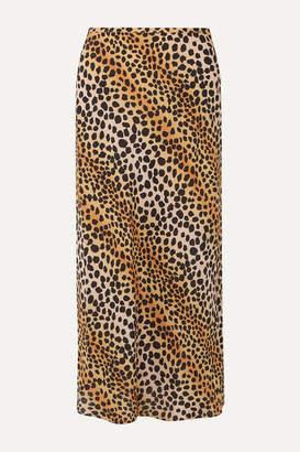 Rixo Kelly Leopard-print Silk Crepe De Chine Midi Skirt - Leopard print