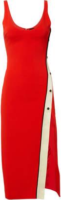 David Koma Snaps Split Tank Midi Dress
