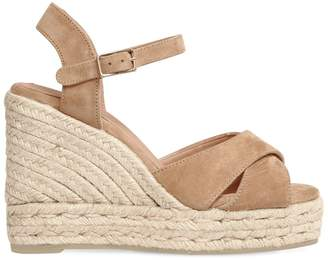 1db2658a653a Beige Covered Wedge Sandals For Women - ShopStyle Australia