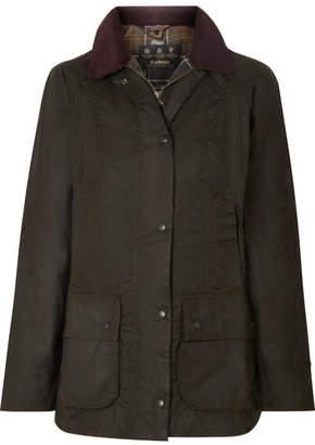 Barbour Classic Beadnell Waxed-cotton And Corduroy Jacket - Green