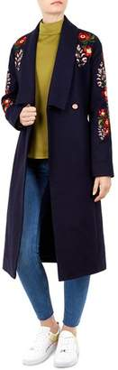 Ted Baker Sirenaa Embroidered Wrap Coat