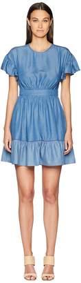 Kate Spade Chambray Flutter Sleeve Dress Women's Dress