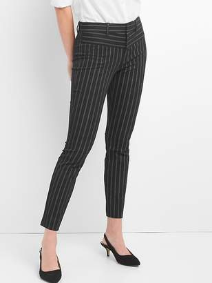 Gap Stripe Skinny Ankle Pants