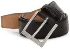 Saks Fifth Avenue Ostrich-Stamped Leather Belt
