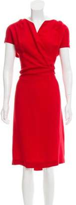 Stella McCartney Sleeveless Surplice Neck Dress