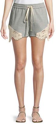 Jonathan Simkhai Crochet Casuals Drawstring Cotton Shorts