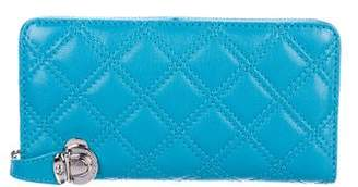 Marc Jacobs Deluxe Quilted Leather Zip-Around Wallet