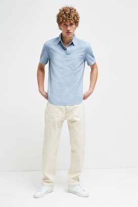 French Connection Garment Dye Cotton Linen Shirt