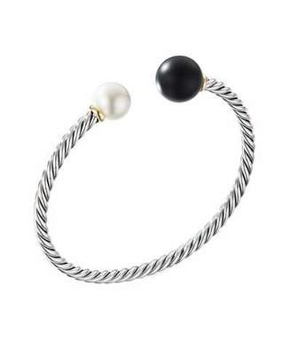 David Yurman Solari Pearl & Black Onyx Cable Bracelet