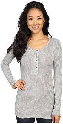 Dylan by True Grit Soft Rayon Thermal Rib Henley $80 thestylecure.com