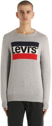 Levi's Logo Intarsia Cotton Knit Sweater