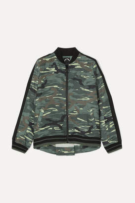 The Upside Ash Camouflage-print Linen And Tencel-blend Bomber Jacket - Army green