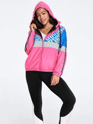PINK Sherpa Lined Campus Full-Zip Anorak