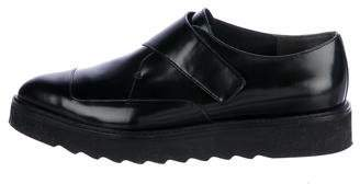 Vince Leather Pointed-Toe Oxfrds