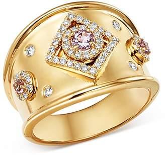 Kiki McDonough 18K Yellow Gold Jemima Amethyst & Diamond Ring