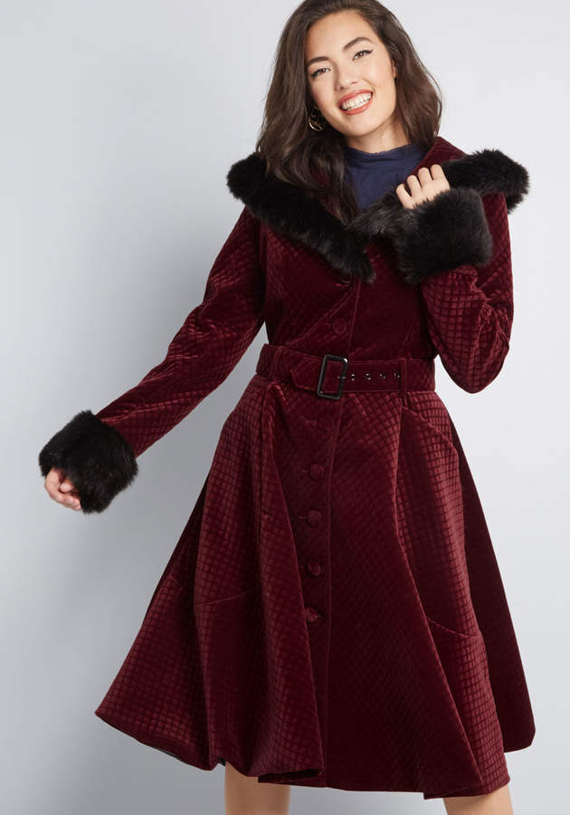 Collectif Clothing Poised Posture Velvet Coat