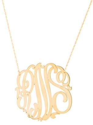 Jennifer Zeuner Jewelry Blake Swirly Three Initial Monogram Necklace silver Blake Swirly Three Initial Monogram Necklace