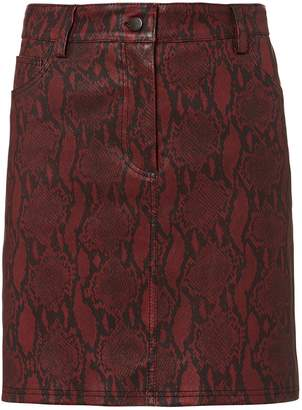A.L.C. Troy Printed Leather Skirt