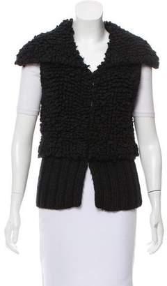 Alexander Wang Textured Wool-Blend Cardigan