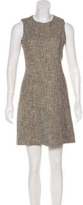 Theyskens' Theory Metallic Tweed Dress
