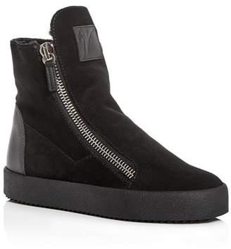 Giuseppe Zanotti Women's Suede & Shearling High Top Sneakers