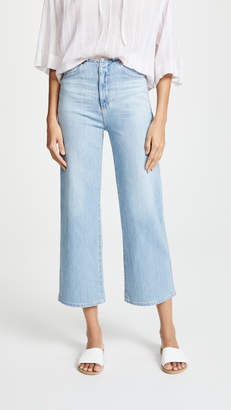 AG Jeans The Etta Waistless Wide Leg Cropped Jeans