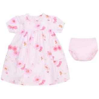 Emile et Rose Emile et RoseBaby Girls Pink Flower Print Dress With Knickers