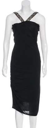 Ungaro Embellished Midi Dress