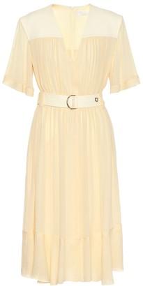 Chloé Silk-blend crepe midi dress