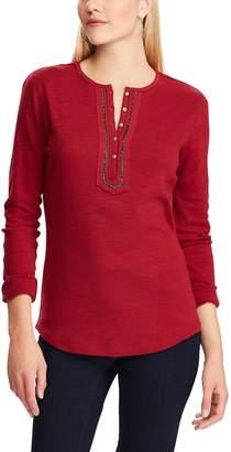 Chaps Women's Embellished Henley Top